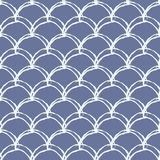 Fish scale seamless pattern. Reptile, dragon skin texture. Tillable background for your fabric, textile design, wrapping paper, swimwear or wallpaper. Blue Royalty Free Stock Photo