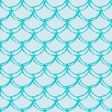 Fish scale seamless pattern. Reptile, dragon skin texture. Tillable background for your fabric, textile design, wrapping paper, swimwear or wallpaper. Blue Stock Photos