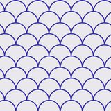 Fish scale seamless pattern. Reptile, dragon skin texture. Tillable background for your fabric, textile design, wrapping paper, swimwear or wallpaper. Blue Royalty Free Stock Photography