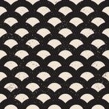 Fish scale seamless pattern. Fish scale monochrome seamless pattern Stock Photo