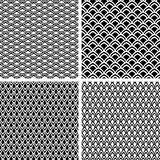 Fish scale seamless textures set.