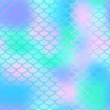 Fish scale texture  pattern. Colorful seamless pattern with fish scale net. Fish scale texture  pattern. Magic mermaid tail background. Colorful seamless Royalty Free Stock Photo