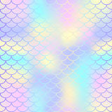 Fish scale texture  pattern. Magic mermaid tail background. Colorful seamless pattern with fish scale net. Pale rainbow mermaid skin surface. Mermaid seamless Stock Photography
