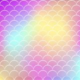 Fish scale and mermaid background. Fish scale on trendy gradient background. Square backdrop with fish scale ornament. Bright color transitions. Mermaid tail Stock Photography