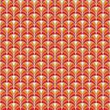 Fish scale wallpaper. Asian traditional ornament with repeated scallops. Hand fan motif. Oriental seamless pattern Royalty Free Stock Photo