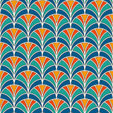 Fish scale wallpaper. Asian traditional ornament with repeated scallops. Hand fan motif. Oriental seamless pattern Stock Photo