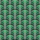 Fish scale wallpaper. Asian traditional ornament with repeated scallops. Hand fan motif. Oriental seamless pattern. Fish scale wallpaper. Asian traditional Stock Illustration