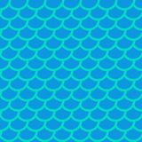 Fish scales. Blue squama. Colorful seamless pattern. Vector. Illustration Royalty Free Stock Image