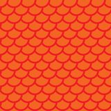 Fish scales. Red squama. Colorful seamless pattern. Vector. Illustration Royalty Free Stock Image