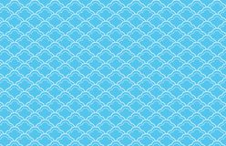 Fish scales seamless pattern on blue background . Illustration design