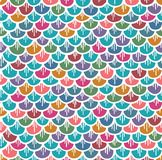 Fish Scales Seamless Pattern Colorful Cartoon Stock Photo