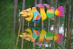 Fish sculpture Royalty Free Stock Photos