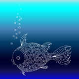 Fish in the sea Royalty Free Stock Images