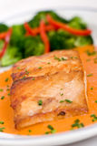 Fish (sea bass) fillet 1 Royalty Free Stock Photography