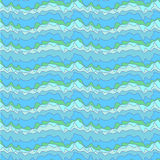 Fish sea. Ethnic ornament doodle decorative sea waves. Seamless pattern Royalty Free Stock Images