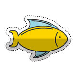 Fish sea isolated icon. Illustration design Stock Images