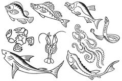 fish and Seafood Royalty Free Stock Photos