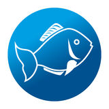 Fish seafood menu icon. Illustration design Stock Images