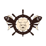 Fish seafood menu icon. Illustration design Royalty Free Stock Photos