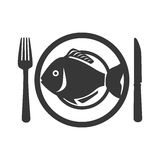 Fish seafood menu icon. Illustration design Royalty Free Stock Photography