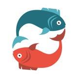 Fish seafood menu icon. Illustration design Stock Photos