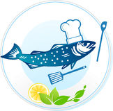 Fish and seafood restaurant vector illustration