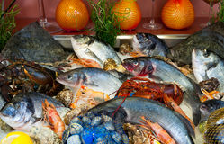 Fish and seafood restaurant Stock Photos