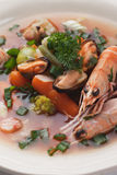 Fish and seafood soup Stock Images