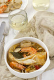 Fish with seafood and vegetables Stock Image