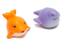 Fish and seal toys Stock Photos