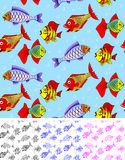 Fish seamless Stock Photography