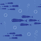 Fish seamless background Royalty Free Stock Images
