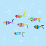 Fish seamless background. Vector illustration Royalty Free Stock Image