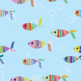 Fish seamless background. Vector illustration Stock Photography