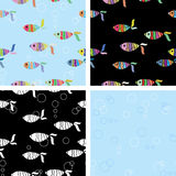 Fish seamless background Stock Photos