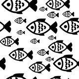 Fish seamless background. Fish icons or signs seamless pattern or background Royalty Free Stock Photo