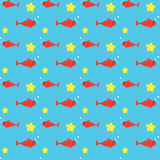 Fish Seamless Pattern. Fish Seamless Background Pattern Background Stock Photo