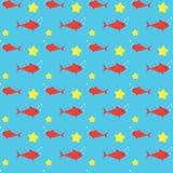 Fish Seamless Pattern Stock Photo
