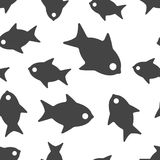 Fish seamless pattern background icon. Business flat vector. Fish seamless pattern background icon. Business flat vector illustration. Fish sign symbol pattern Stock Images