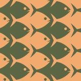 Fish seamless pattern. Esher style. Stock Image