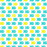 Fish seamless pattern for fabric textile design, pillows, wallpapers,cloth,bags,scrapbook. Paper. Vector illustration Royalty Free Stock Image