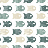 Fish seamless pattern for fabric textile design, pillows, wallpapers,cloth,bags,scrapbook. Paper. Vector illustration Royalty Free Stock Photos