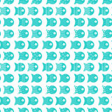 Fish seamless pattern for fabric textile design, pillows, wallpapers,cloth,bags,scrapbook. Paper. Vector illustration Royalty Free Stock Images