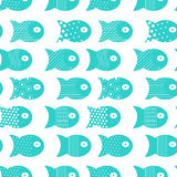 Fish seamless pattern for fabric textile design, pillows, wallpapers,cloth,bags,scrapbook. Paper. Vector illustration Stock Photos