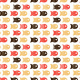 Fish seamless pattern for fabric textile design, pillows, wallpapers,cloth,bags,scrapbook paper. Vector illustration Royalty Free Stock Photo