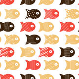 Fish seamless pattern for fabric textile design, pillows, wallpapers,cloth,bags,scrapbook paper. Vector illustration Stock Photo
