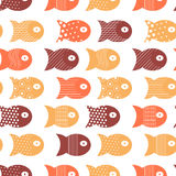 Fish seamless pattern for fabric textile design, pillows, wallpapers,cloth,bags,scrapbook paper. Vector illustration Royalty Free Stock Image