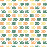 Fish seamless pattern for fabric textile design, pillows, wallpapers,cloth,bags,scrapbook paper. Vector illustration Royalty Free Stock Photos