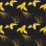Fish seamless pattern. Koi seamless pattern can be used for wallpaper, website background, textile printing. Vector illustration of Chinese fish. Marine and Royalty Free Stock Image
