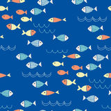 Fish seamless pattern Royalty Free Stock Photography